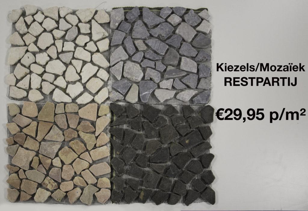 Restpartij Tuintegels 60x60.Kiezels Mozaiek Restpartij Tegel En Badkamerhal
